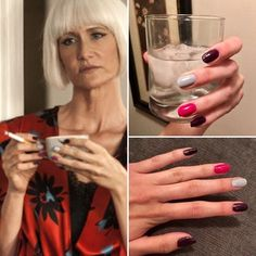 Twin Peaks: Diane's manicure. I have got to try this color scheme!
