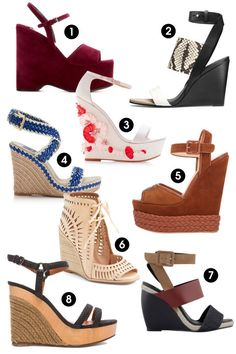 Hello sun-ready sandals, printed pumps, and wedding-appropriate wedges. Shop spring's 96 best shoes. Hello sun-ready sandals, printed pumps, and wedding-appropriate wedges. Shop spring's 96 best shoes, including these 7 wedges.