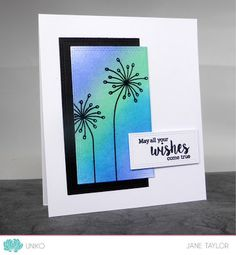 Uniko Ltd. October 2017 Release. Organic Wishes clear stamp set. Card By Design Team Member Jane Taylor