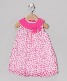 Take a look at this Pink Heart Bow Bubble Romper on zulily today!