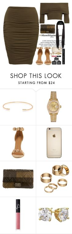 """""""• 9:26 p.m."""" by tweetiebabiee ❤ liked on Polyvore featuring ZoÃ« Chicco, Rolex, Chanel, Apt. 9, NARS Cosmetics and Diamondsy"""