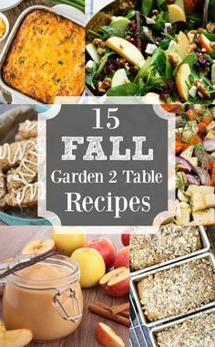 15 Fantastic Fall Garden to Table Recipes  | angiethefreckledrose.com Autumn garden harvests during September and October can contribute to making the most delicious recipes!