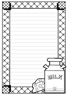 free printable blank handwriting paper for kids to practice penmanship or story writing. Black Bedroom Furniture Sets. Home Design Ideas