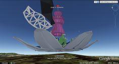 çiçek—®—évolution_i-M18 : 08/12, rendu installé par Franck sur le calque KML : comme prévu une des deux ailes est anthracite...