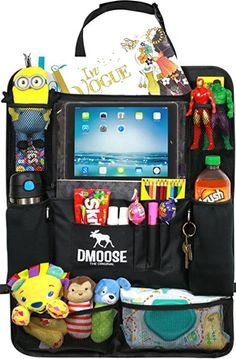 Buy DMoose Car Backseat Organizer for Kids with Touchscreen Tablet Holder, Neoprene Water Bottle Pockets, and Space Saving Storage, Seat Protector Kick Mat and Travel Support at Discounted Prices ✓ FREE DELIVERY possible on eligible purchases. Road Trip With Kids, Travel With Kids, Car Organization Kids, Organizing, Backseat Car Organizer, Best Car Seats, Space Saving Storage, Tablet Holder, Car Travel