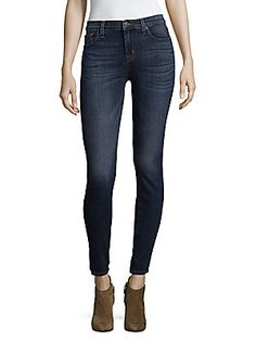 Hudson Mid-rise Super Skinny Jeans In Fall Indigo Mid Rise Skinny Jeans, Super Skinny Jeans, Hudson Jeans, Oras, True Religion, Jeans Style, Indigo, Curvy, How To Wear