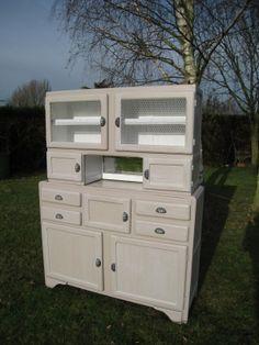 buffet style louis xv patin gris perle plateau ch ne buffet ancien retravaill pour un look. Black Bedroom Furniture Sets. Home Design Ideas
