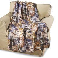 Kitty Fleece Throw Blanket