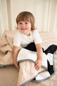 Baby Boy Crib Bedding, Stripe Print, Girl Nursery, Warm And Cozy, Little Ones, Cribs, Snug, Classic Style, Ivory