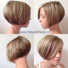 Kids hair short bob blonde brave girl purple feather extension