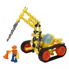 The ZOOB Z-Strux Scorpion Driller is an 81-piece building kit that allows kids to make four futuristic big rigs.