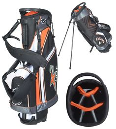 Offering 7 pockets these mens 2014 X2 hot golf stand bags by Callaway  feature a comfort 2f2548f18e1e