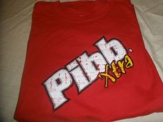 Pibb Xtra Hanes Tagless T-Shirt Color Red Size XL 100% Cotton