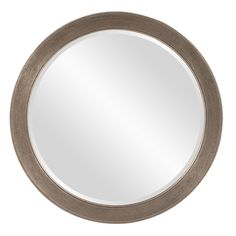 Howard Elliott 92092 Virginia Round Mirror, Silver *** Click image for more details. (This is an affiliate link) #Mirrors
