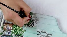 This tutorial will show you step by step instructions how to draw lace curtain on chopping board.