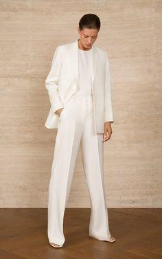 Crepe Top, Crepe Dress, Suit Fashion, Fashion Outfits, Fashion Hacks, 70s Fashion, Winter Fashion, Fashion Tips, White Suits