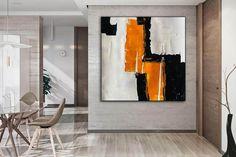 Minimal Artwork Original Painting Painting on Canvas Modern image 4 Dinning Room Wall Art, Extra Large Wall Art, Office Wall Art, Modern Wall Decor, Gold Art, Texture Art, Handmade Art, Art Oil, Art Images
