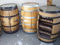 Great idea for a wall cabinet. A half barrel with doors for a base cabinet would be awesome.