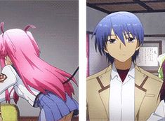 Angel beats Yui and Hinata