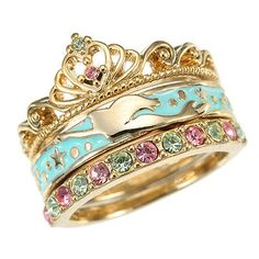 Tokyo Disney Store Disney Princess ring 3P Party in the sea Ariel size No. 11