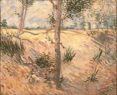 Vincent van Gogh: Como pinturas (Árvores los hum campo los hum dia ensolarado)