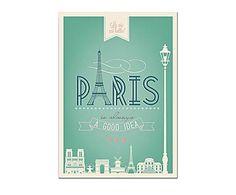 """PARIS is always a good idea""  poster su tela"