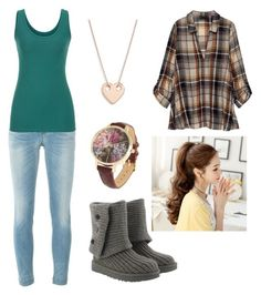 """casual"" by beth-angus ❤ liked on Polyvore featuring UGG, Dolce&Gabbana, Ginette NY, Bobeau and maurices"