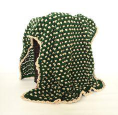 ✿✾✿ Crochetar obertor Afegão Deite Verde Azeitona Malha itens decorativos Criações -  /  ✿✾✿ Crochet Afghan Blanket Throw Hunter Green Knit Knacks Creations -