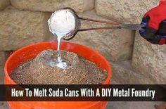 Confident accelerated diy metal projects ideas see here Metal Projects, Metal Crafts, Art Crafts, Art Projects, Diy Forge, Soda Can Crafts, Melting Metal, Liquid Metal, Forging Metal