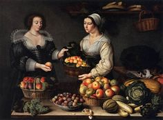 The Fruit and Vegetable Costermonger (1631) is in the public domain in the…