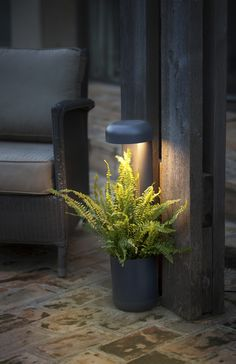 GROW + FLOWERPOT is a set of design lamps by Estudi Ribaudí for outdoor lighting,