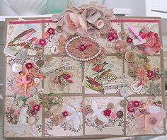 beautiful shabby collage art