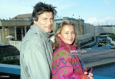 Pierre Brice, Ehefrau Hella Brice, , bei Paris/Frankreich, 'Asterix