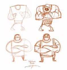 The importance of geometric shapes. Sketch Inspiration, Character Design Inspiration, Animation Reference, Art Reference, Character Drawing, Character Concept, Cartoon Drawings, Cartoon Art, Gesture Drawing Poses