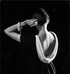 Dorian Leigh en Christian Dior photographiée par Gjon Mili, 1950.