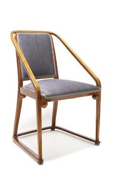 Design probably by Gustav Siegel. Jakob & Josef Kohn, Wien - Chair with Armrests, around 1902