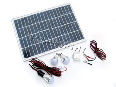Sustentabilidade Energética Solar Termosolar e Eólica : Sistema de iluminação  Kit 20W Painel Solar, contr...