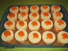 mandarinkové dortíky s marcipánem