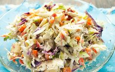 Coleslaw With Apples and Poppy Seeds - Sweetness comes from the apple, not added sugar.