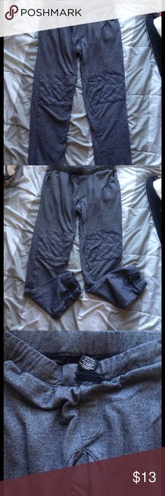 Shaun White Gray Moto Joggers Gray joggers with Moto stitch on knees. Drawstring at waist. This is from the kids section, so fits size 4/small best Shaun White Pants Track Pants & Joggers