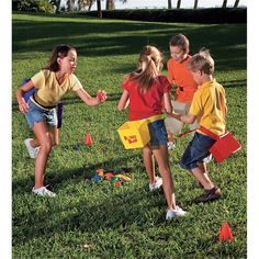 Bucket Blast Game - buckets, beanbags and water play combine to make 15 different fun outdoor games for the family. Outdoor Games For Kids, Outdoor Play, Outdoor Toys, Outdoor Activities, Indoor Outdoor, Indoor Games, Outside Games, Field Day, Camping Games
