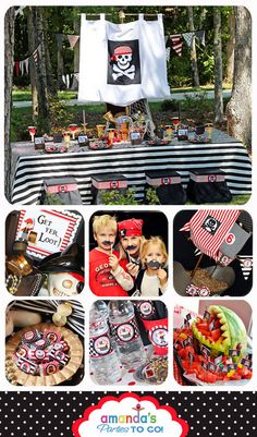 Pirate Party Cupcake Topper  Pirate Birthday by AmandasPartiesToGo,