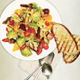 Grilled Panzanella.  Make 1 hour ahead so bread gets soggy!