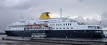 MV Minerva Cruise Ship, Tonnage: 12,449 ,Capacity: 350 passengers. Crew 160 In Reykjavík, 20.6. 2014. NCO eCommerce, www.netkaup.is
