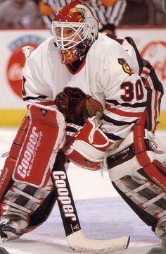 Ed Belfour   Chicago Blackhawks   NHL   Hockey vintage-hockey