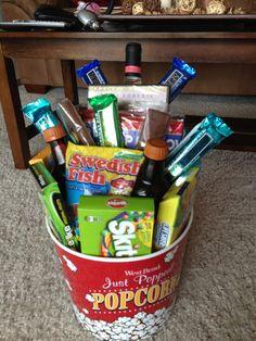 Movie Date Night Basket for wedding gift
