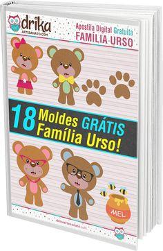 Baixar Apostila Grátis Familia Urso — Dicas do Blog Drika Artesanato