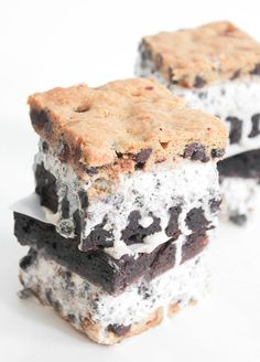 Slutty Brownie Ice Cream Sandwiches. Probably the best frozen treat of all time. #SummerSoiree #FrozenTreats