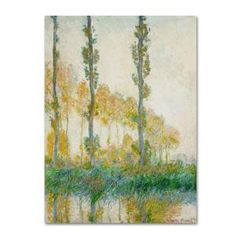 The Trademark Fine Art 35 in. x 47 in. The Three Trees, Autumn Canvas Art comes with a hanging bar on back so they are ready to hang. Hanging Bar, Impressionist Paintings, Claude Monet, Third, Canvas Art, Trees, Autumn, Fine Art, Bed