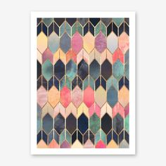 Stained Glass 3 Art Print by Elisabeth Fredriksson